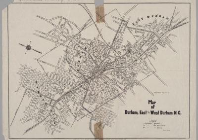 Durham map 1924